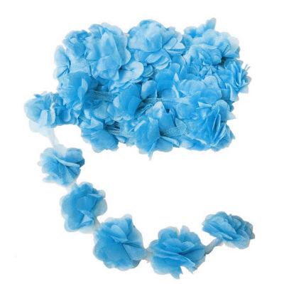 Çiçek Tül Laz.Kes.Büyük Bebek Mavisi P10yard(120çiçek)