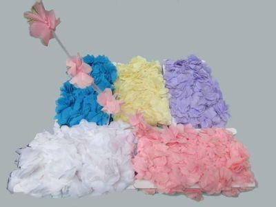 Çiçek Tül Laz.Kes.Büyük Beyaz P10yard(120çiçek)