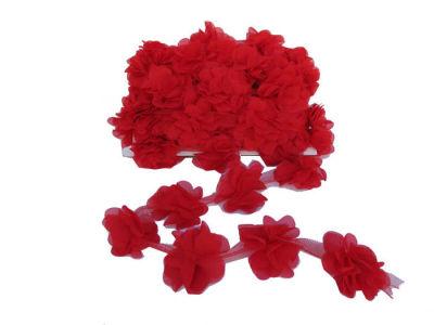 Çiçek Tül Laz.Kes.Büyük Kırmızı P10yard(120çiçek)