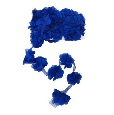 Çiçek Tül Laz.Kes.Büyük Lacivert P10yard(120çiçek)