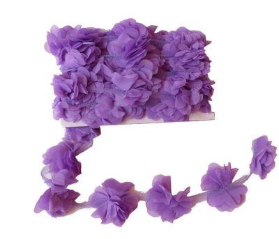 Çiçek Tül Laz.Kes.Büyük Lila P10yard(120çiçek)