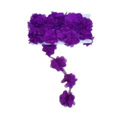 - Çiçek Tül Laz.Kes.Büyük Mor P10yard(120çiçek)
