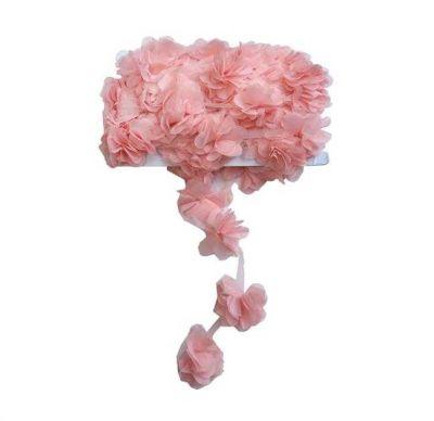 Çiçek Tül Laz.Kes.Büyük Pudra P10yard(120çiçek)