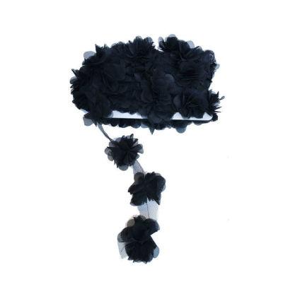 Çiçek Tül Laz.Kes.Büyük Siyah P10yard(120çiçek)