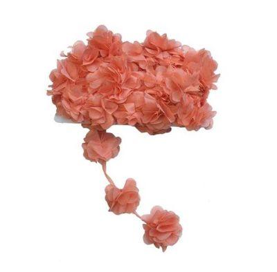 Çiçek Tül Laz.Kes.Büyük Somon P10yard(120çiçek)