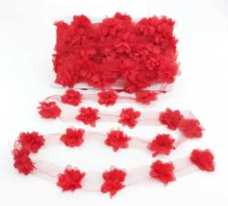 - Çiçek Tül Laz.Kes.Küçük Kırmızı P10yrd