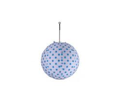 - Çin Feneri Puantiyeli Büyük(abajur)mavi