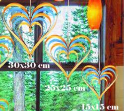 - Çıtçıtlı Kalp Kapı Süsü 3 Lü Set Altın Ve Mavi