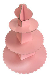 - Piramit Modeli Pembe Cupcake Standı