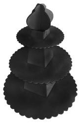 - Piramit Modeli Siyah Cupcake Standı
