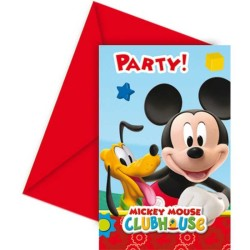 - Mickey Playful Davetiye 6'lı Paket