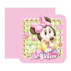 - Minnie Disney Baby Davetiye
