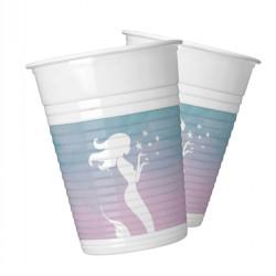 - Deniz Kızı Plastik Bardak (8 oz / 200 cc) 8'li Paket