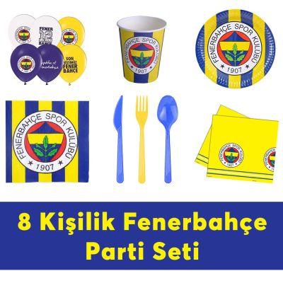 Fenerbahçe Doğum Günü Seti Eko Set 8 Kişilik