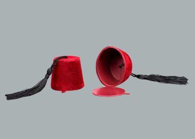 Fes Kutu Flok Kaplama Kırmızı