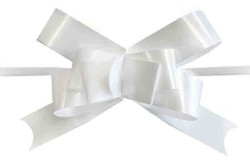 - Fiyonk Çekmeli Rafyadan Düz 2cm Asetat Kutulu Beyaz