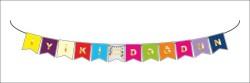- Flama Bayrak İyiki Doğdun Set Küçük Rengarenk P1