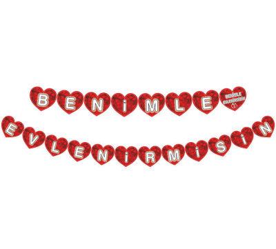 Flama Bayrak Kalpli Benimle Evlenirmisin Pk:1-300