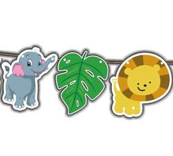 Flama Bayrak Süs Sevimli Hayvanlar Safari Pk:1-300 - Thumbnail