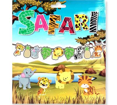 Flama Bayrak Süs Sevimli Hayvanlar Safari Pk:1-300