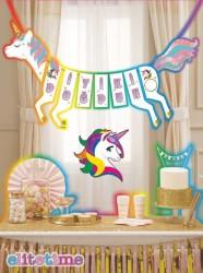 - Unicorn At Şeklinde İyiki Doğdun Simli Flama