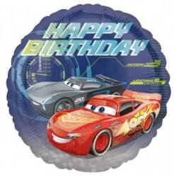 - Cars Happy Birthday Folyo Balon 18 inç (43x43 cm)
