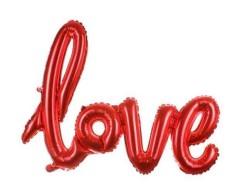 - Love Kırmızı Folyo Balon 20 inç (50x40 cm)