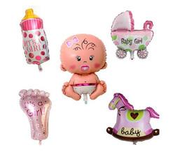 - Folyo Balon Bebek Gereçleri 16 İnc Pembe Pk:1-300