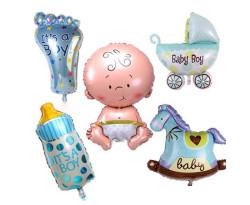 - Bebek Araçları Mavi Folyo Balon 16 inç (20x40 cm)