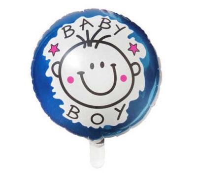 Bebekli Mavi Folyo Balon (35x35 cm) 10'lu Paket