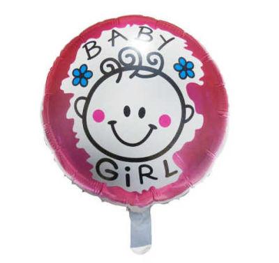 Bebekli Pembe Folyo Balon (35x35 cm) 10'lu Paket