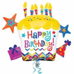 - Happy Birthday Cupcake Star 71x66 cm Folyo Balon
