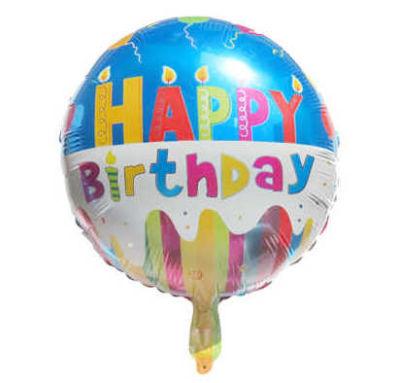 Happy Birthday Folyo Balon (35x35 cm) 10'lu Paket