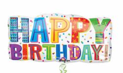 - Happy Birthday Typ 83x40 cm Folyo Balon