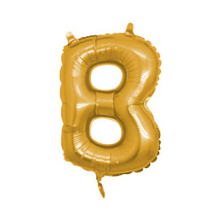- B Folyo Balon Harf Altın 16 inç (25x40 cm)