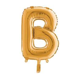 - B Folyo Balon Harf Altın 40 inç (100x100 cm)