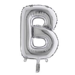 - B Folyo Balon Harf Gümüş 40 inç (100x100 cm)
