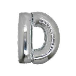 - D Folyo Balon Harf Gümüş 40 inç (100x100 cm)