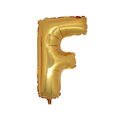 F Folyo Balon Harf Altın 40 inç (100x100 cm)