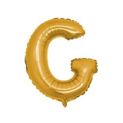 - G Folyo Balon Harf Altın 40 inç (100x100 cm)
