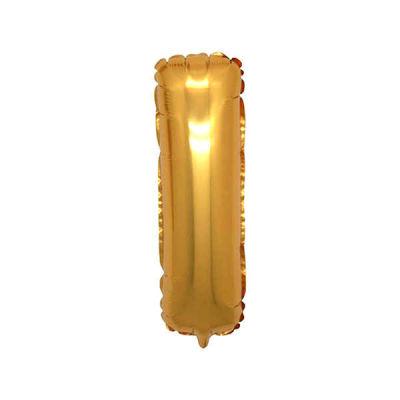 I Folyo Balon Harf Altın 40 inç (100x100 cm)