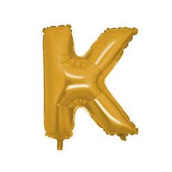 - K Folyo Balon Harf Altın 40 inç (100x100 cm)