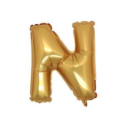 - N Folyo Balon Harf Altın 40 inç (100x100 cm)