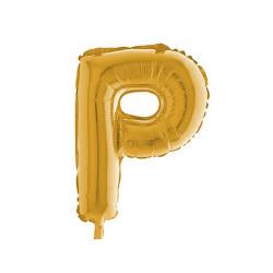 - P Folyo Balon Harf Altın 40 inç (100x100 cm)