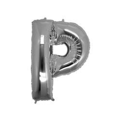 - P Folyo Balon Harf Gümüş 16 inç (25x40 cm)