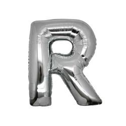 - R Folyo Balon Harf Gümüş 40 inç (100x100 cm)