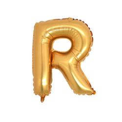 - R Folyo Balon Harf Altın 40 inç (100x100 cm)