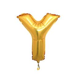 - Y Folyo Balon Harf Altın 40 inç (100x100 cm)