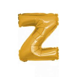 - Z Folyo Balon Harf Altın 16 inç (25x40 cm)