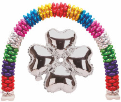 - Folyo Balon Kalp Çiçek Modeli Gümüş 13ınc Pk:1 Kl:400